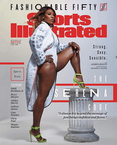 Serena In sexy athlete cover