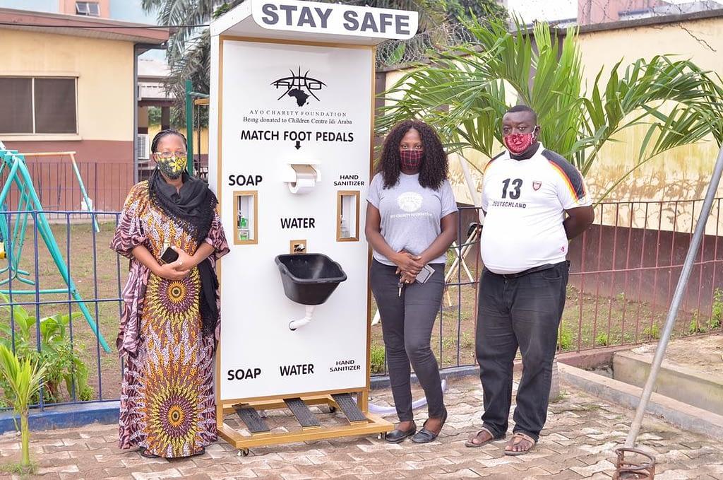 Ayo Charity Foundation Hand-Sanitizing Unit